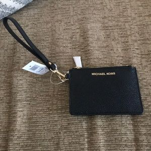 Michael Kors Black and Gold Wallet